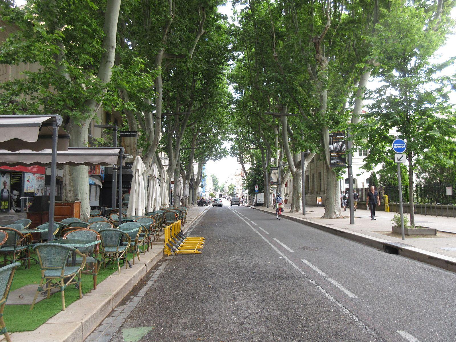 Un petit tour dans les rues d'AVIGNON dans le monde d'après