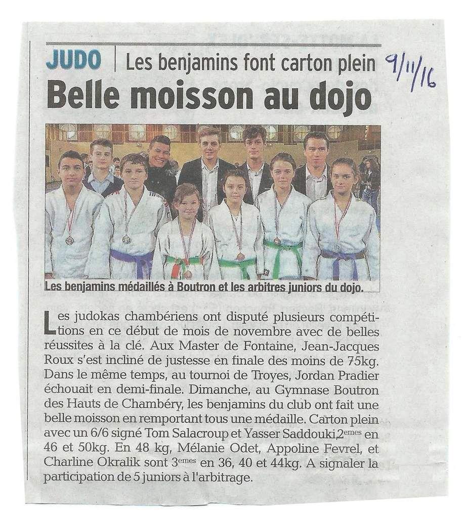 Championnat de Savoie Benjamin, Chambéry, 6 11 16