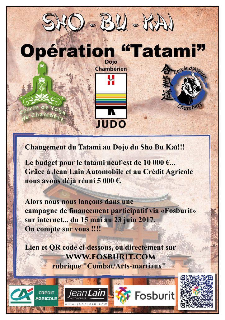Changement du tatami grâce à  FOSBURIT !!!