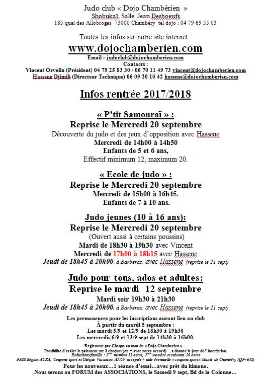 Documents et infos pour la rentrée prochaine (maj le 11/9)