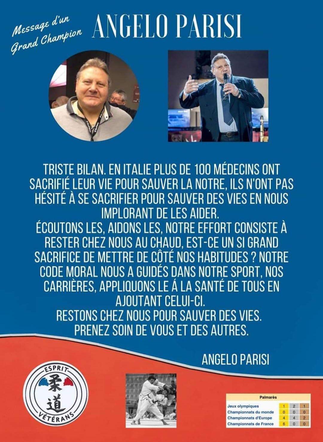 Message d'Angelo Parisi