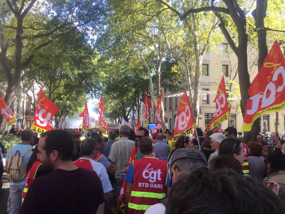 Manifestation contre la loi Macron à NÎMES le 12 septembre 2017
