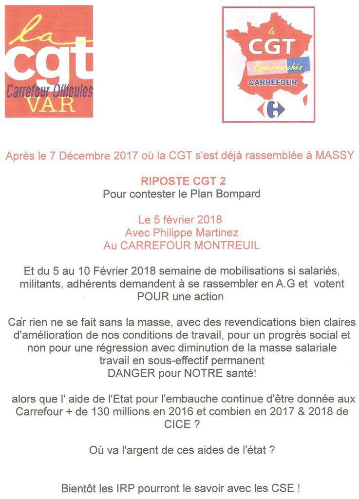 Message aux salariés Carrefour