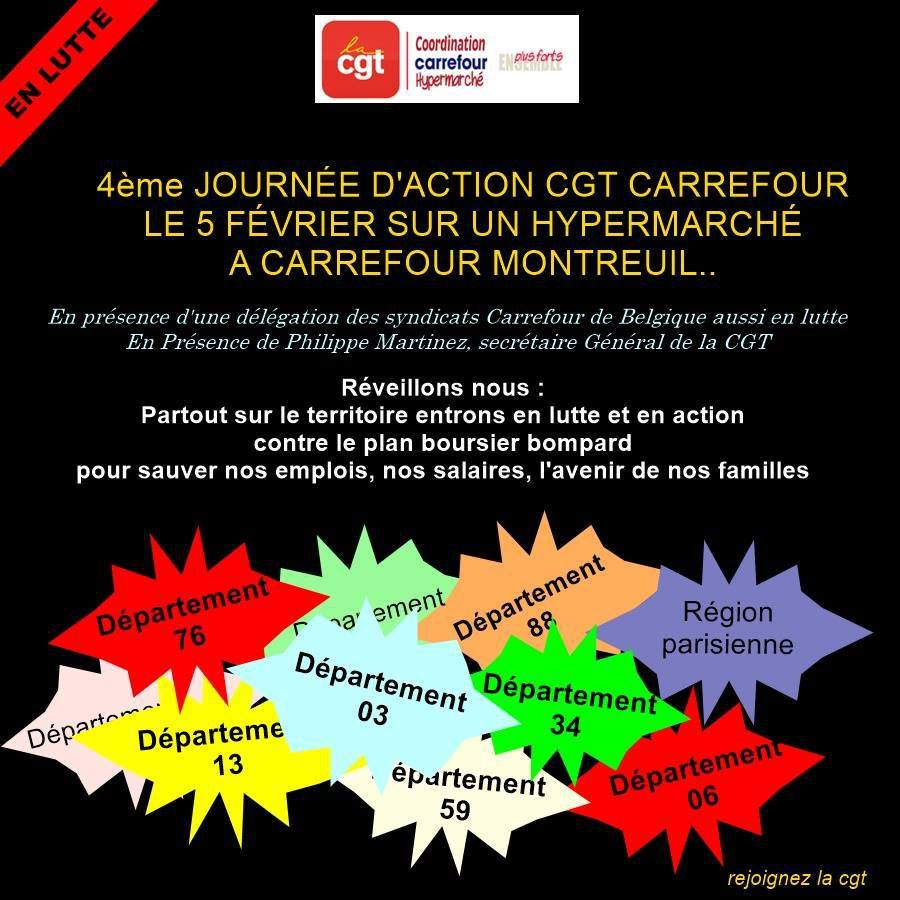 4 EME JOURNEE D'ACTION CGT CARREFOUR