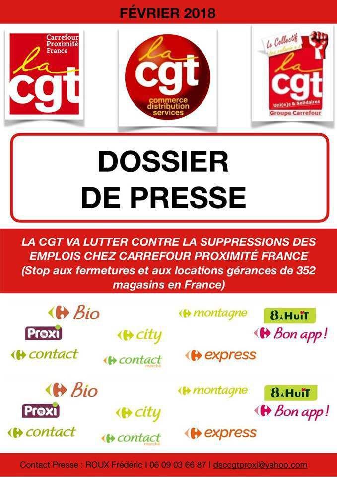 La CGT va lutter contre les suppressions des emplois chez carrefour proximité