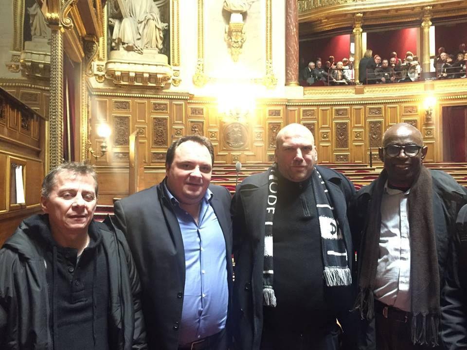 Fabien GAY Sénateur Communiste de Seine Saint Denis Co porte parole du groupe CRCE au Sénat, nous a reçu au Sénat. Nous avons évoqué tous les aspects négatifs du plan Bompard. Il nous a reçu pendant 2 heures. Merci à lui pour son écoute et son soutien.
