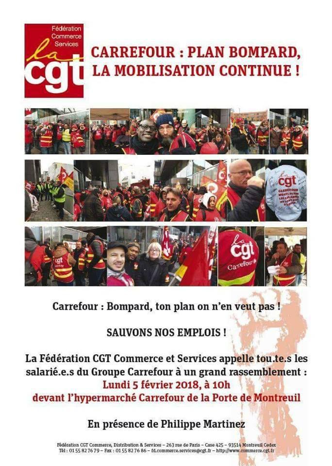 CGT ACTIONS DANS TOUTE LA FRANCE CONTRE LE PLAN BOMPARD DESTRUCTEUR D'EMPLOIS