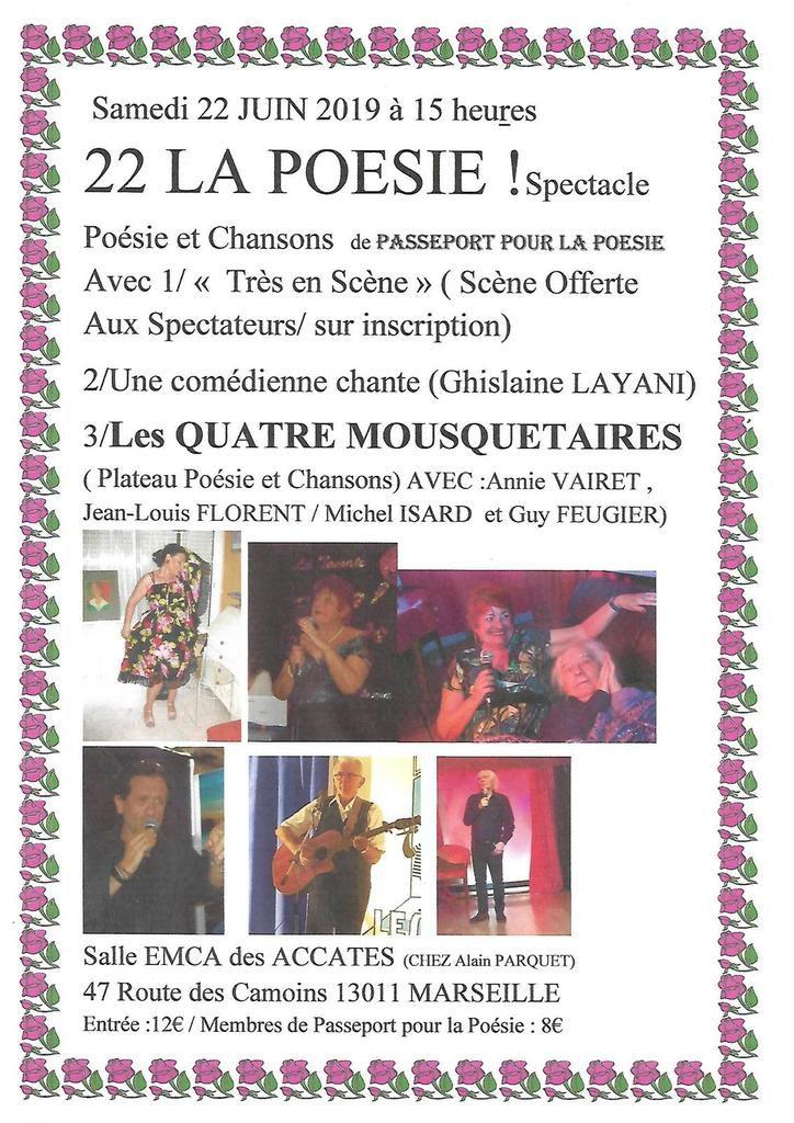 Le 22 juin : 22 la poésie autour de Guy Feugier.