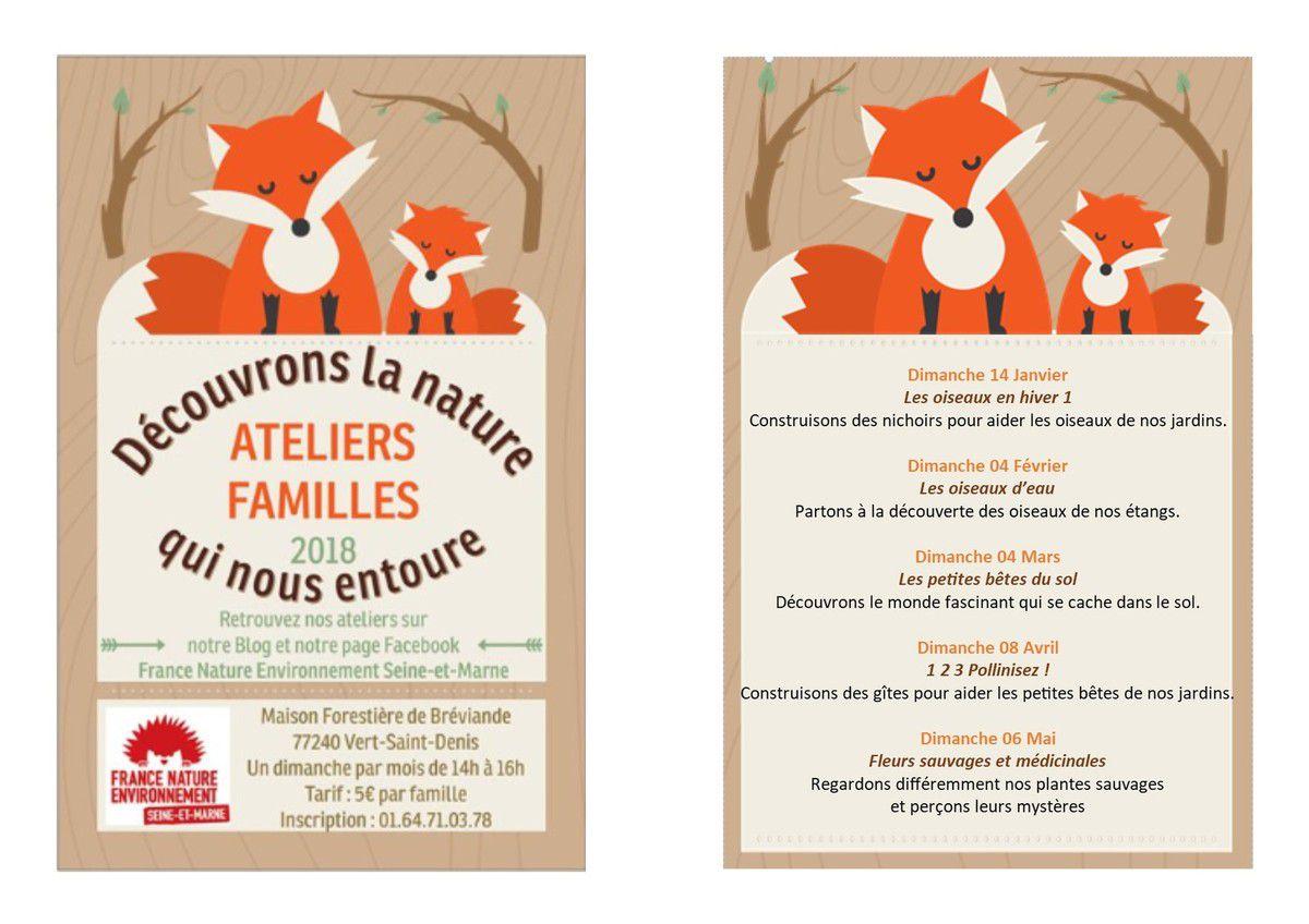 """Prochain Atelier Familles """"Les petites bêtes du sol"""" dimanche 4 mars 2018"""