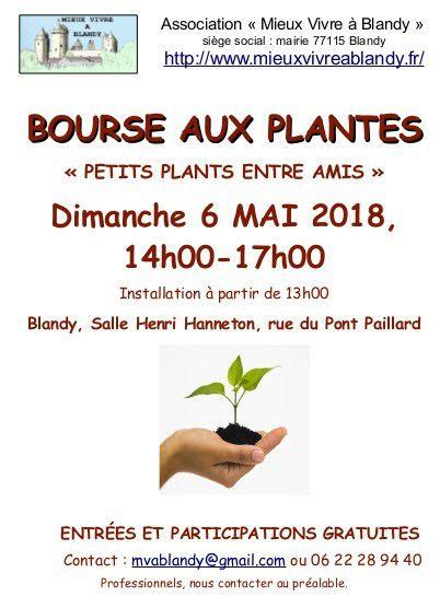 Bourse aux plantes à Blandy-les-Tours dimanche 6 mai 2018