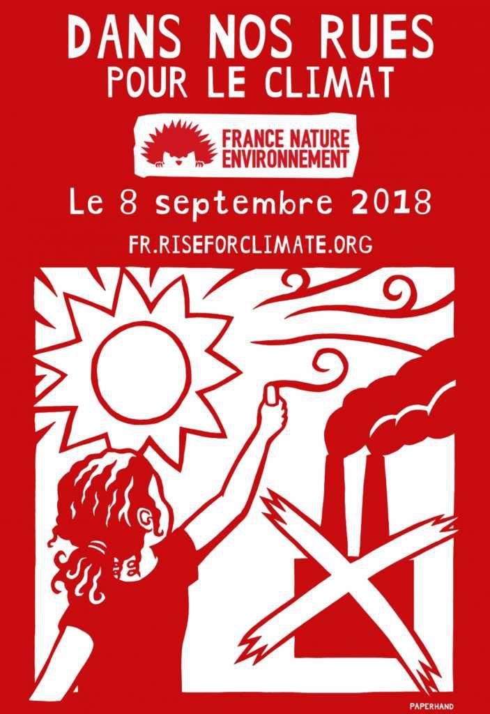 Marche pour le climat samedi 8 septembre 2018 14H à Paris