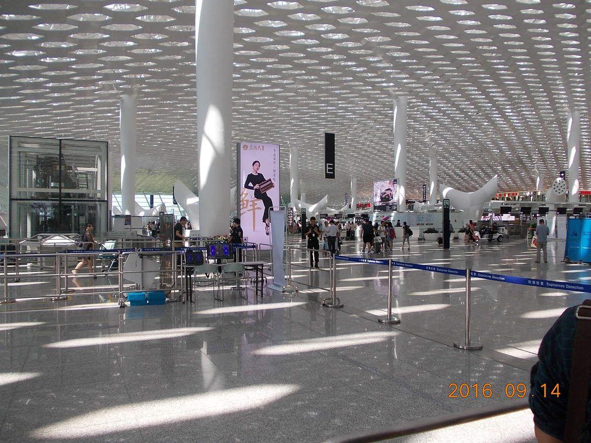 Encore quelques  images de l'aéroport de Shenzhen.