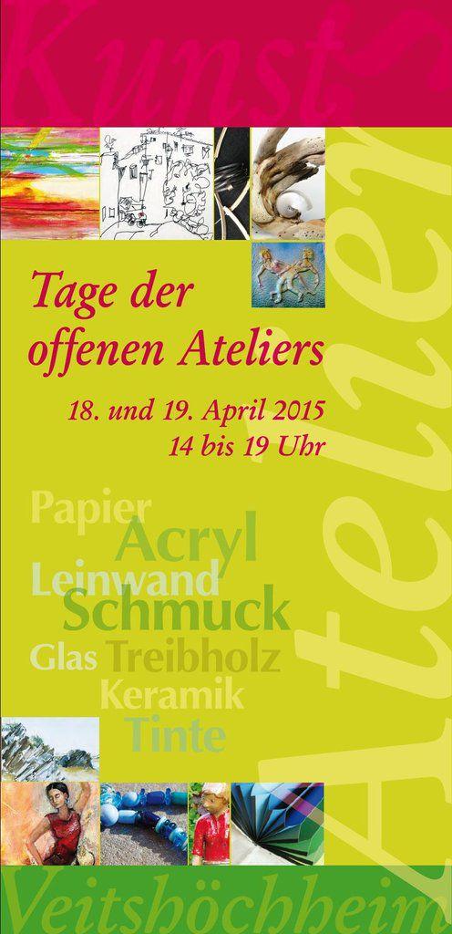 """Viele Veitshöchheimer Künster/innen beteiligen sich am 18./19. April am """"Offenen Atelier"""""""