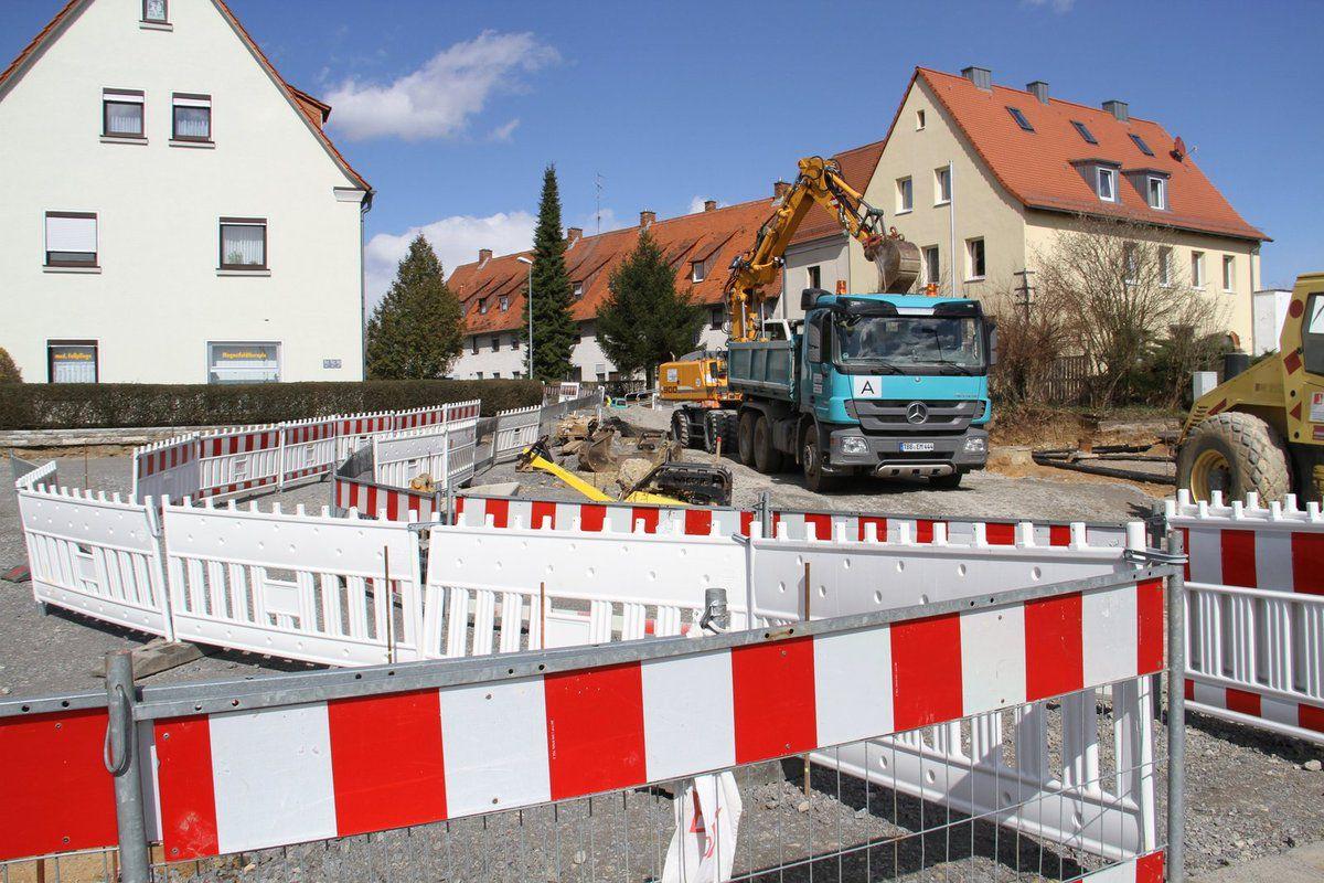 Bauarbeiten in der Friedenstraße gehen mit Volldampf weiter