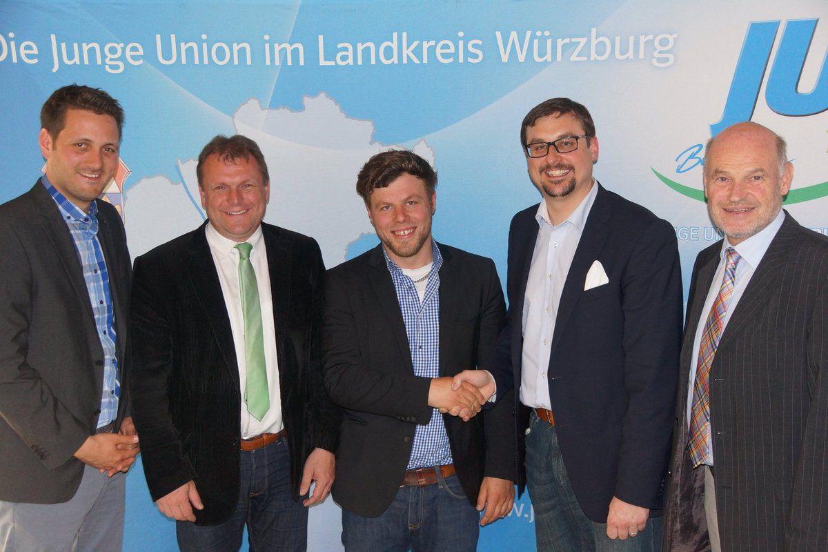 Michael Fleischer Nachfolger des Veitshöchheimers Marc Zenner als Vorsitzender der Jungen Union Würzburg Land