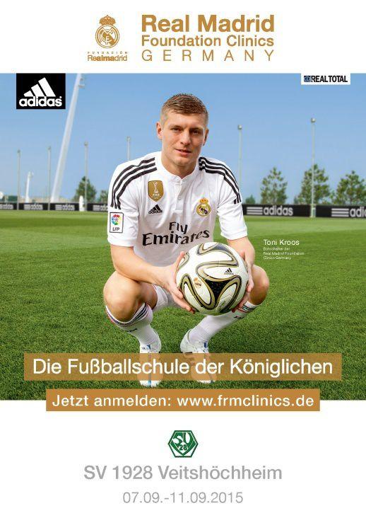 Offizieller Botschafter der Real Madrid Fußballschule ist Toni Kroos.