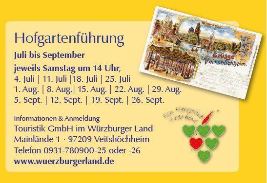Hochkarätige Veranstaltungen im Sommer in Veitshöchheim