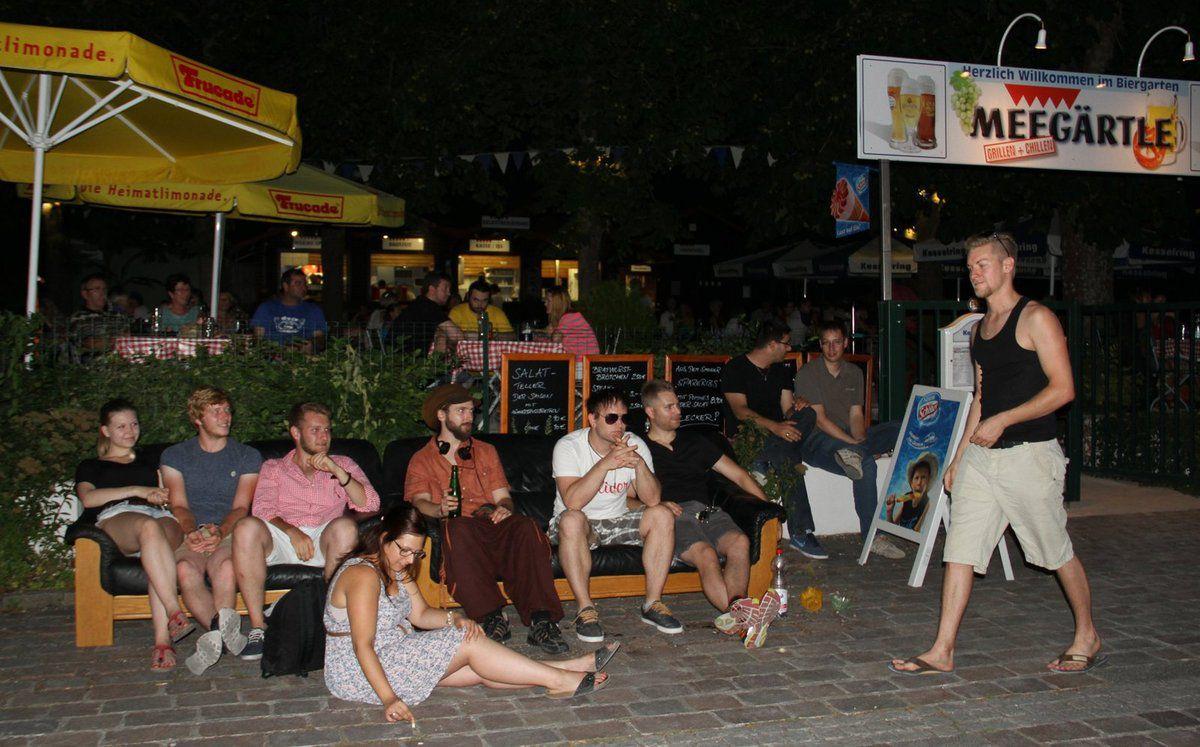 """Urlaubsfeeling pur im Veitshöchheimer """"Meegärtle"""" mit """"Lauschmusik"""" des Jugendbahnhofs"""