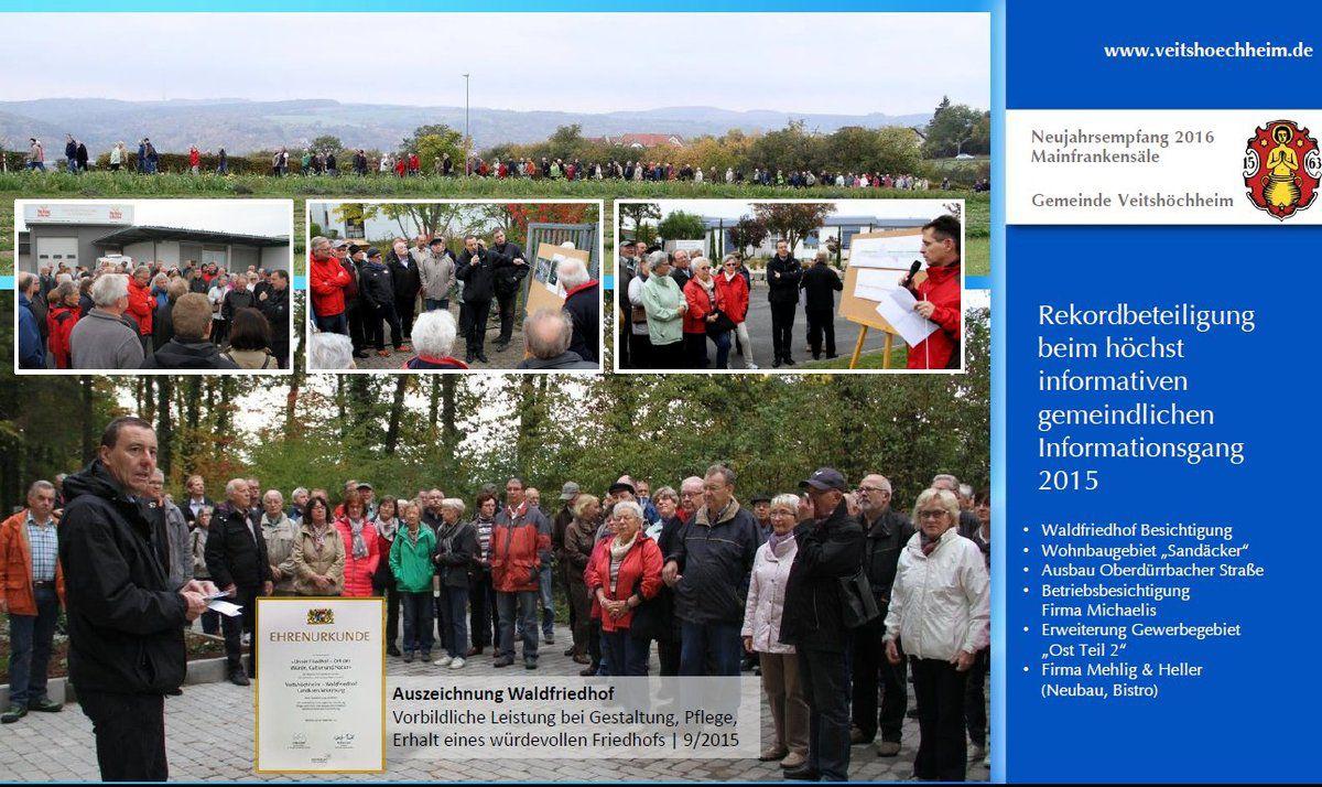 Veitshöchheimer Bürgermeister zog in seinem Rückblick beim Neujahrsempfang in den Mainfrankensälen durchweg positive Bilanz - 425 Bürger kamen - Teil I: Rückblick und Vorausschau