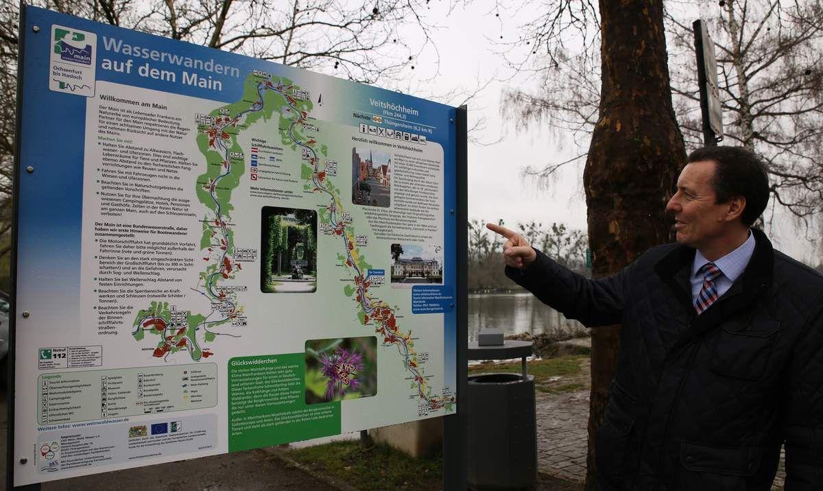 """Veitshöchheim ist nun offiziell Anlegestelle für Wasserwandern am Main und eingebunden in das Informationssystem """"Gelbe Welle"""" für Kanu- und Kajakfahrer"""