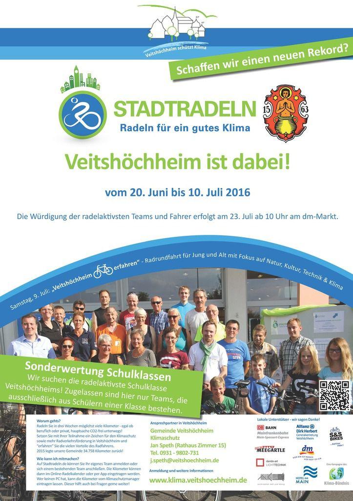 Stadtradeln: Veitshöchheim tritt wieder in die Pedale