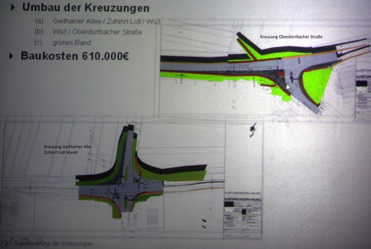 Umbaupläne der beiden Kreuzungen