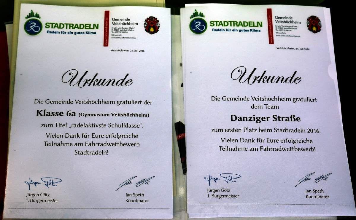 Neuer Rekord beim vierten Veitshöchheimer Stadtradeln - In Unterfranken auf Platz 1