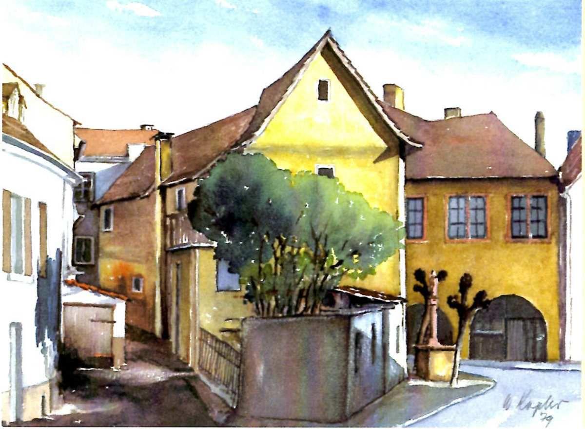 Willi Kopler und das idyllische Veitshöchheim - Ungewöhnliche Ausstellung im Veitshöchheimer Rathaus vom 23.9. bis 16.10.2016