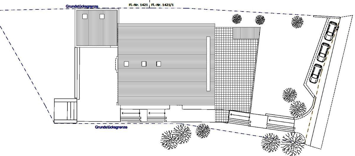 Perspektive Neugestaltung Innenraum und Lageplan