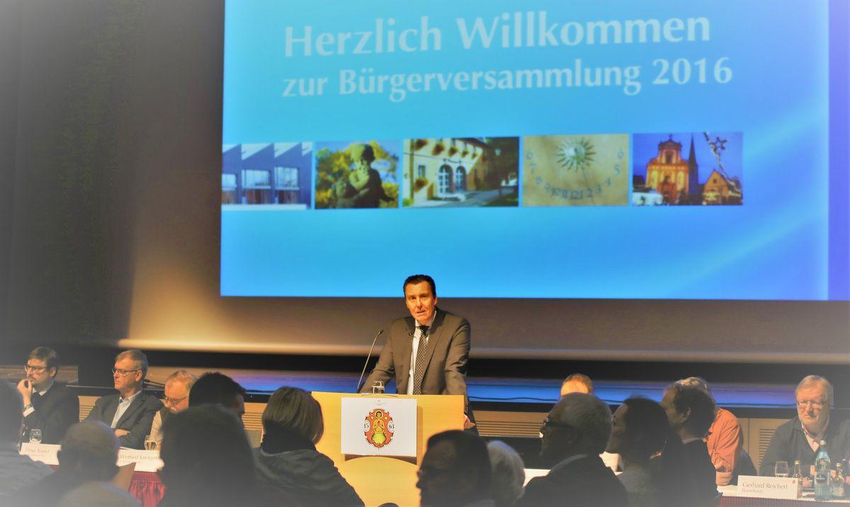 Bürgerversammlung Veitshöchheim 2016 - Teil 1: Veitshöchheim steht gut da
