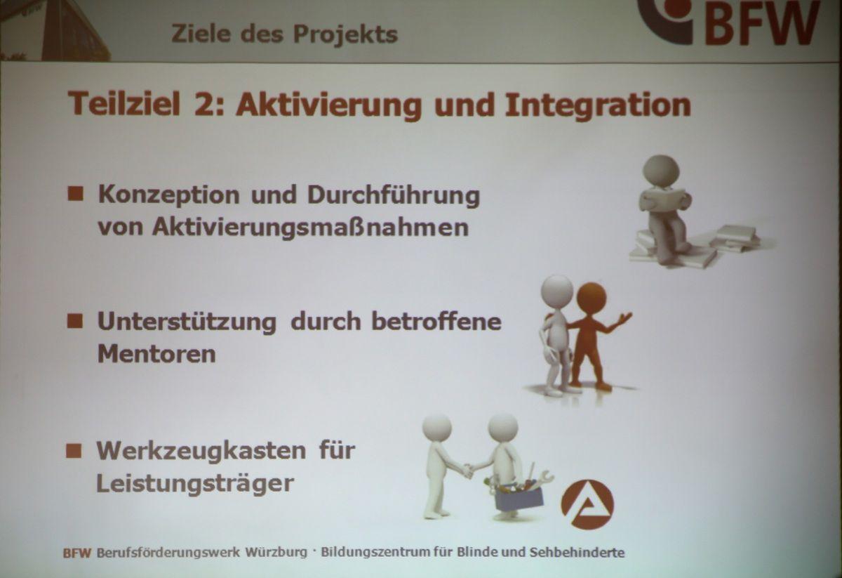 Modellhaftes Drei-Millionen-Euro-Projekt im Veitshöchheimer BFW zur Integration langzeit-arbeitsloser Blinder  und Sehbehinderter ins Arbeitsleben gestartet
