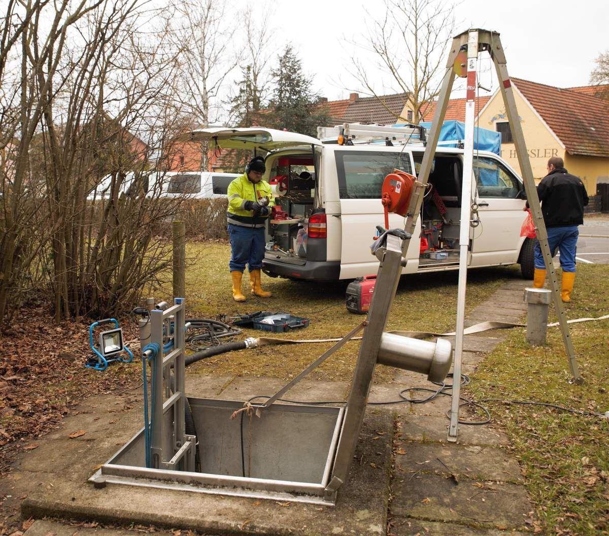Umbauarbeiten am Abgabeschacht der Fernwasserversorgung mussten abgebrochen werden