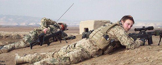 Alexander Sedlak bei seinem Einsatz in Afghanistan. Sechs Monate war er dort im Einsatz (Foto: Reservistenverband.de/privat)
