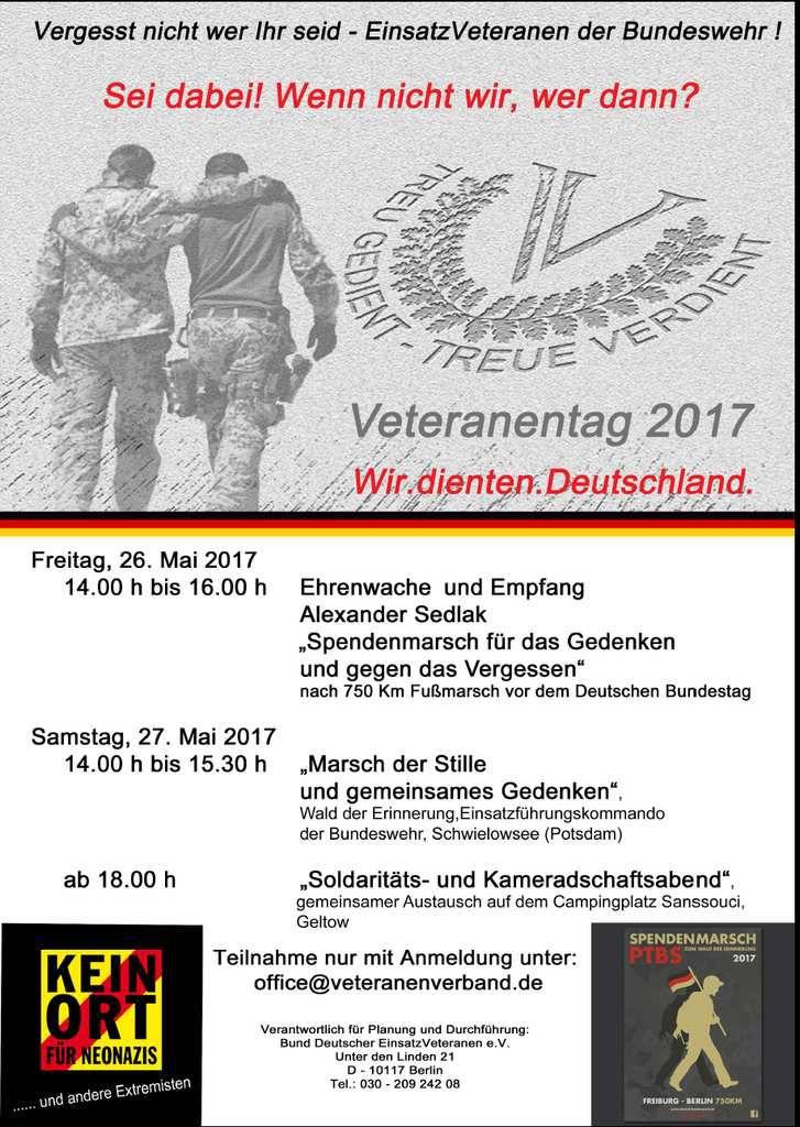 Veitshöchheimer Bürgermeister empfing posttraumatisierten Afghanistan-Kriegsveteranen auf seinem 750 Kilometer-Erinnerungs--Marsch quer durch Deutschland