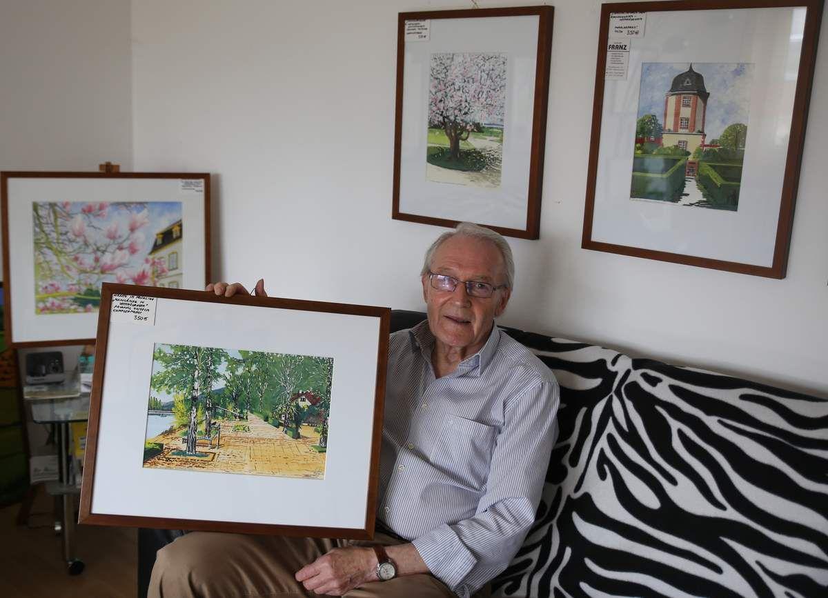 und Siegfried Franz in den Mainfrankensälen mit ihren Gemälden anzutreffen.