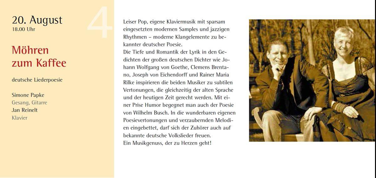 10. Auflage der attraktiven Sonntagskonzerte im Synagogenhof des Jüdischen Kulturmuseums Veitshöchheim in den Sommerferien vom 30. Juli bis 3. September 2017, jeweils um 18 Uhr