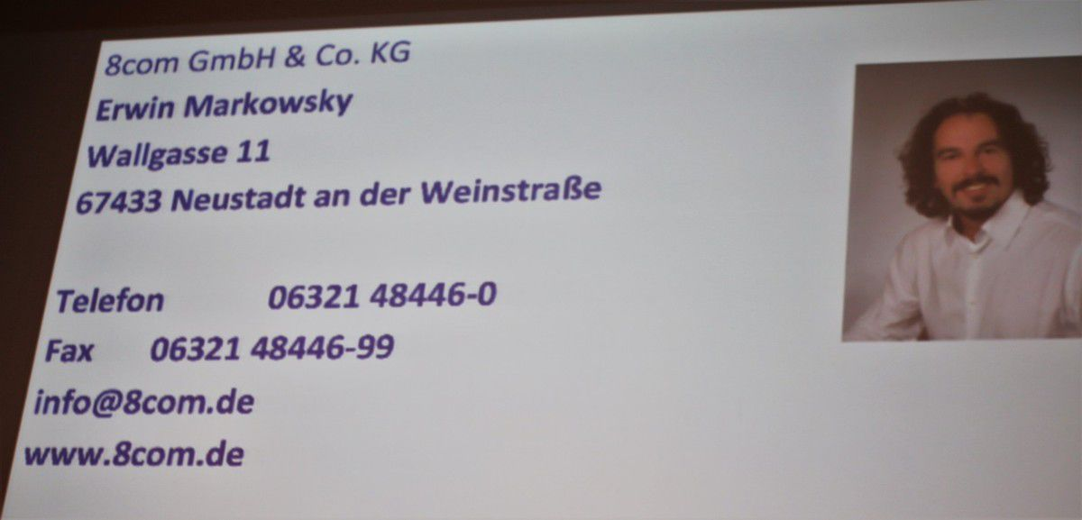Kontaktdaten des IT-Spezialisten