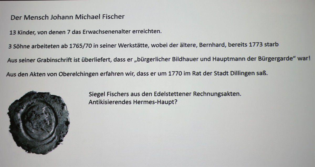 Einige Details über den Menschen Johann Michael Fischer.