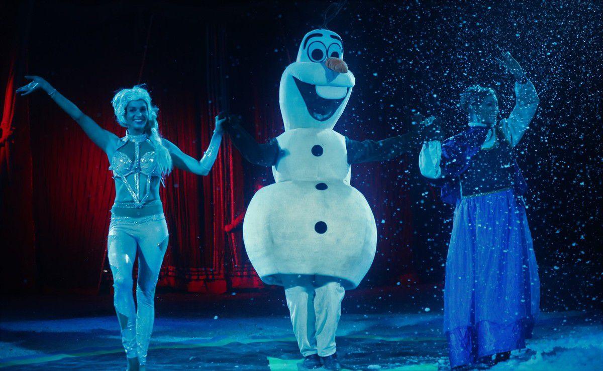 Eindrucksvoll die Disney-Frozen-Figur.