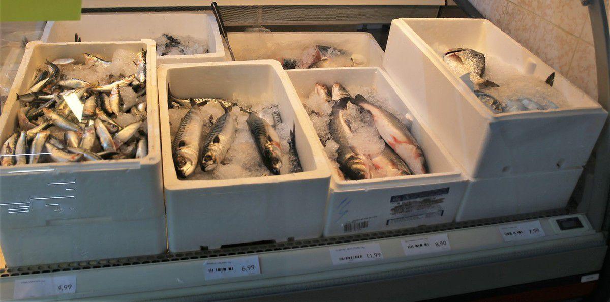 Im Angebot ist auch Fisch.