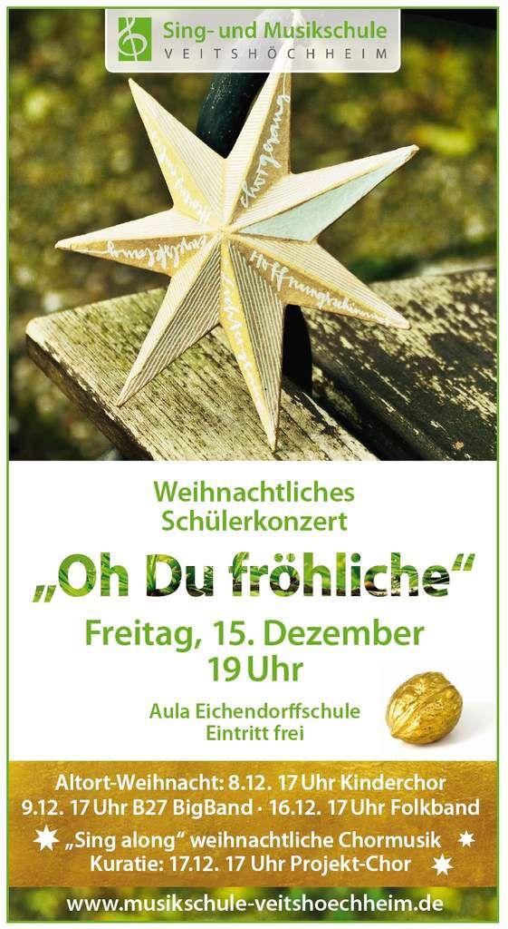 Ab morgen weihnachtet es mit der Sing- und Musikschule Veitshöchheim