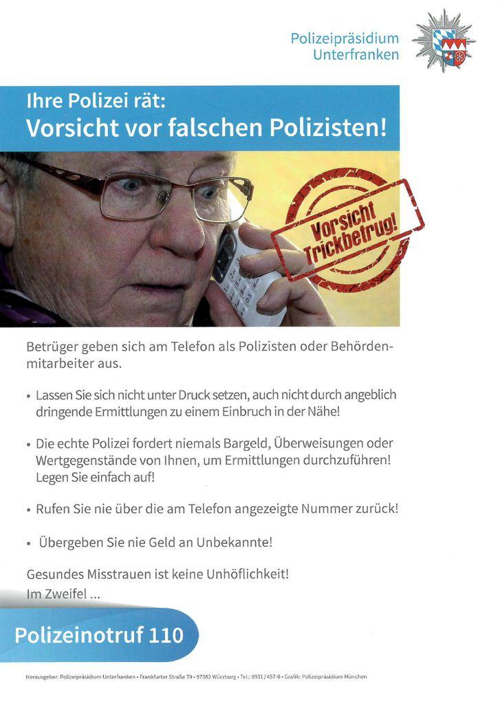 Pressebericht zum Informationsabend VORSICHT ENKELTRICK! am 25.11.2020 im Pfarrsaal der Kuratie