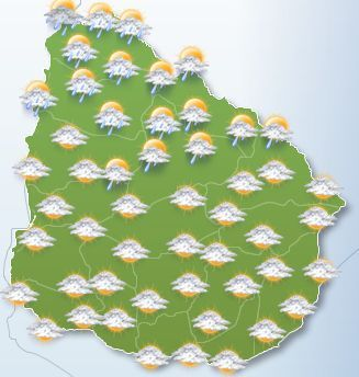 Norte durante la mañana continuara inestable, mejorando, resto del pais nubosidad variables.(No Oficial)