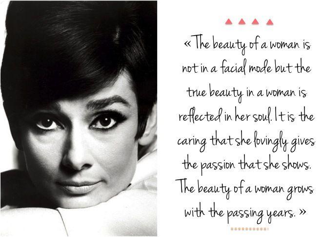 Etre belle par Audrey Hepburn