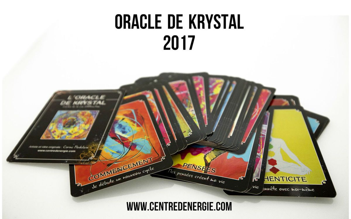 Cartes Oracle de Krystal 2017