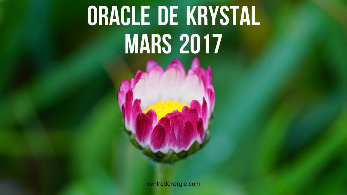 Guidance cartes oracle de Krystal mars 2017