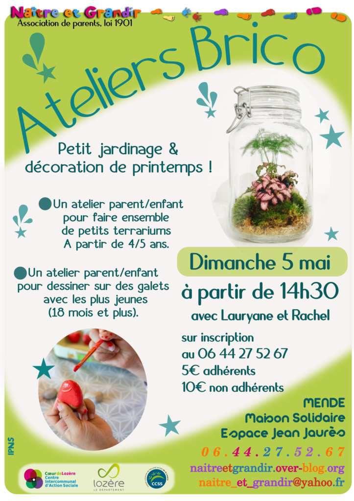 Ateliers Brico dimanche 5 mai à Mende