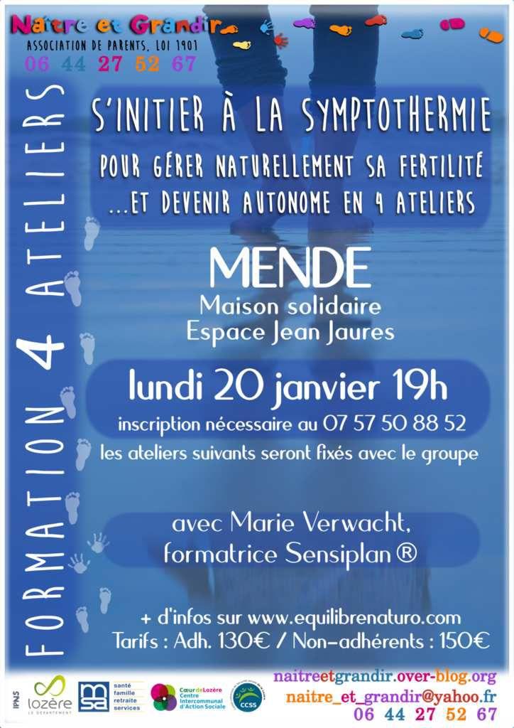 """Rendez-vous """"Gérer naturellement sa fertilité"""" le 20 janvier à Mende"""