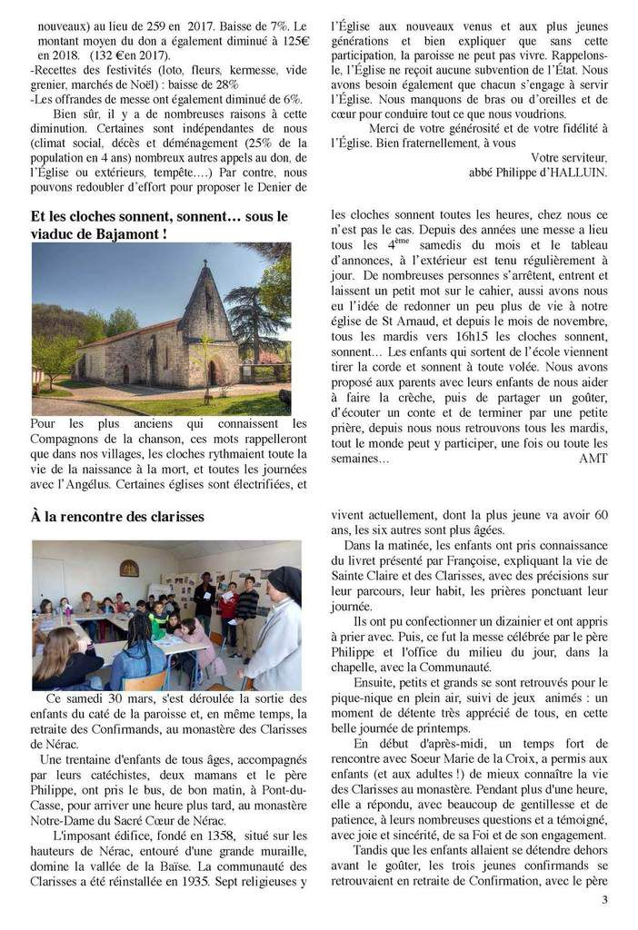 TRAIT D'UNION Nr 291 Avril & Mai 2019