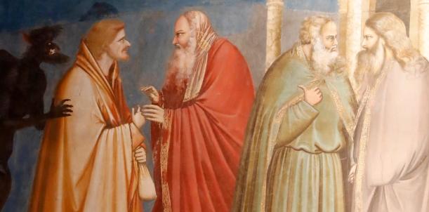 Fred de Noyelle - Godong | Ref:328 La Trahison de Judas, détail des fresques de Giotto de la chapelle des Scrovegni de Padoue.